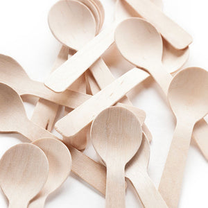 TreeChoice Classic Compostable Wooden Demi Tasting Spoons (100 count)