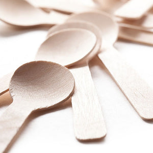 TreeChoice Classic Compostable Wooden Demi Tasting Spoons (400 count)