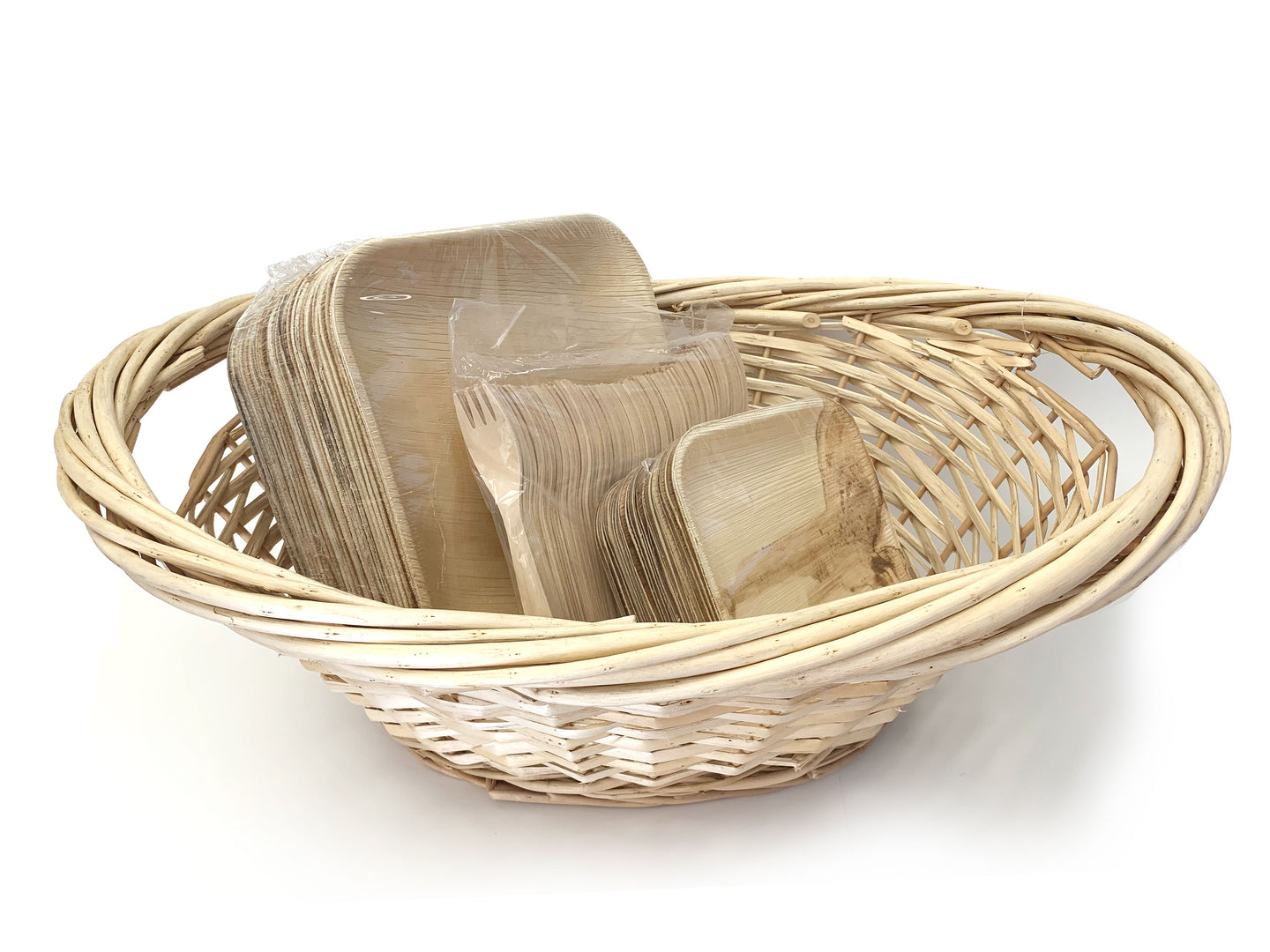 TreeChoice Party Basket and Leaf Plates Package