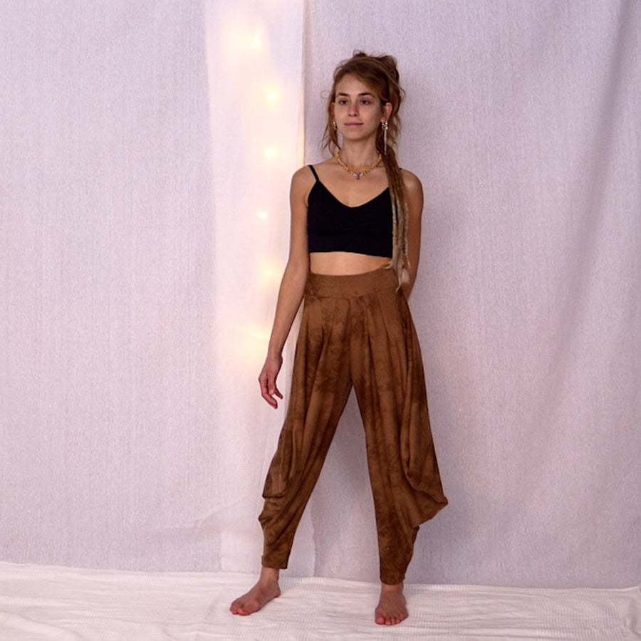 Butoh Loose Woman's Pants - Camel