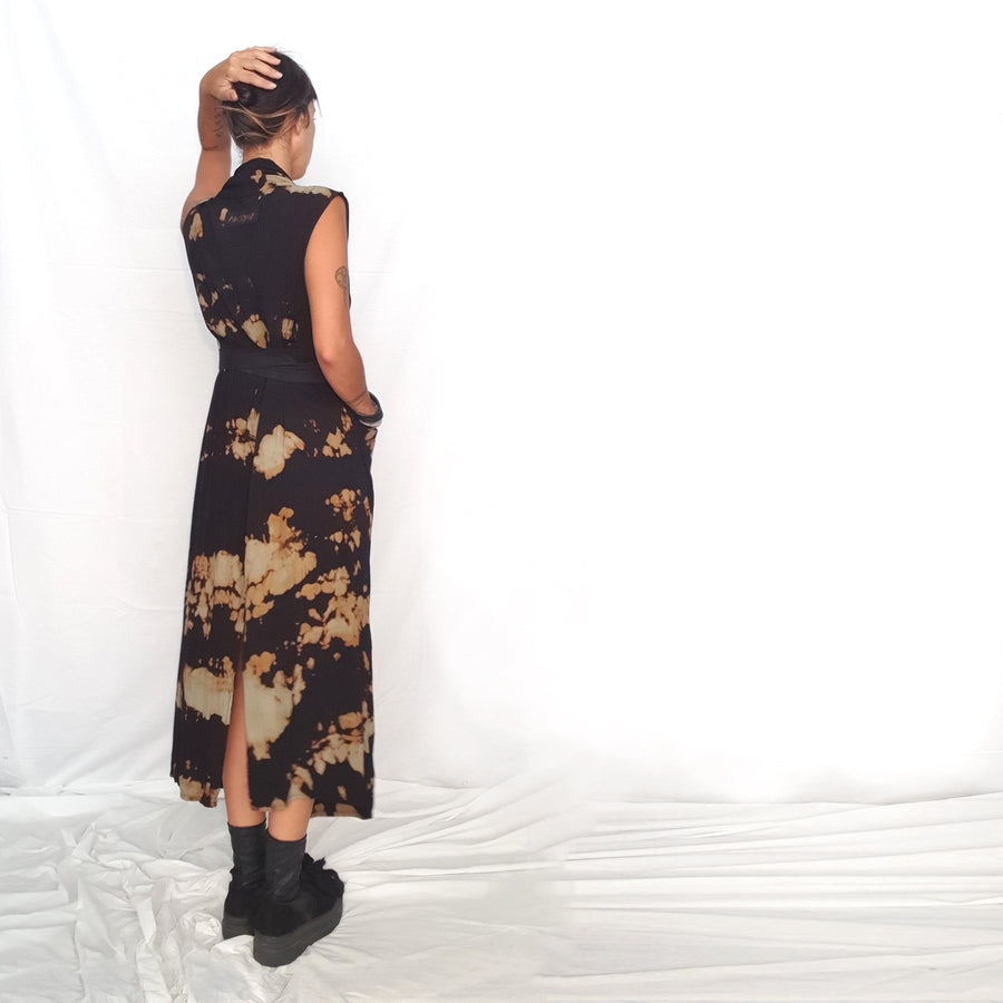Draped Dress -Leopard Print