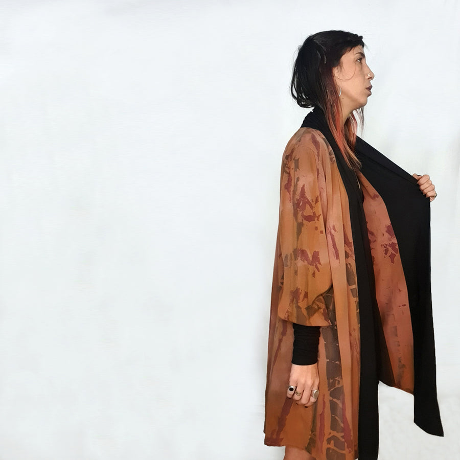 Natural cardigan - Terra shades
