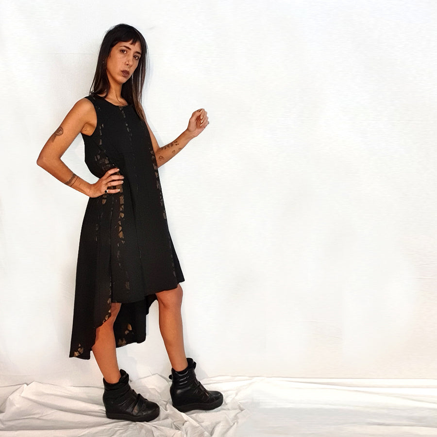 Good Fit Dress - Black & Gold