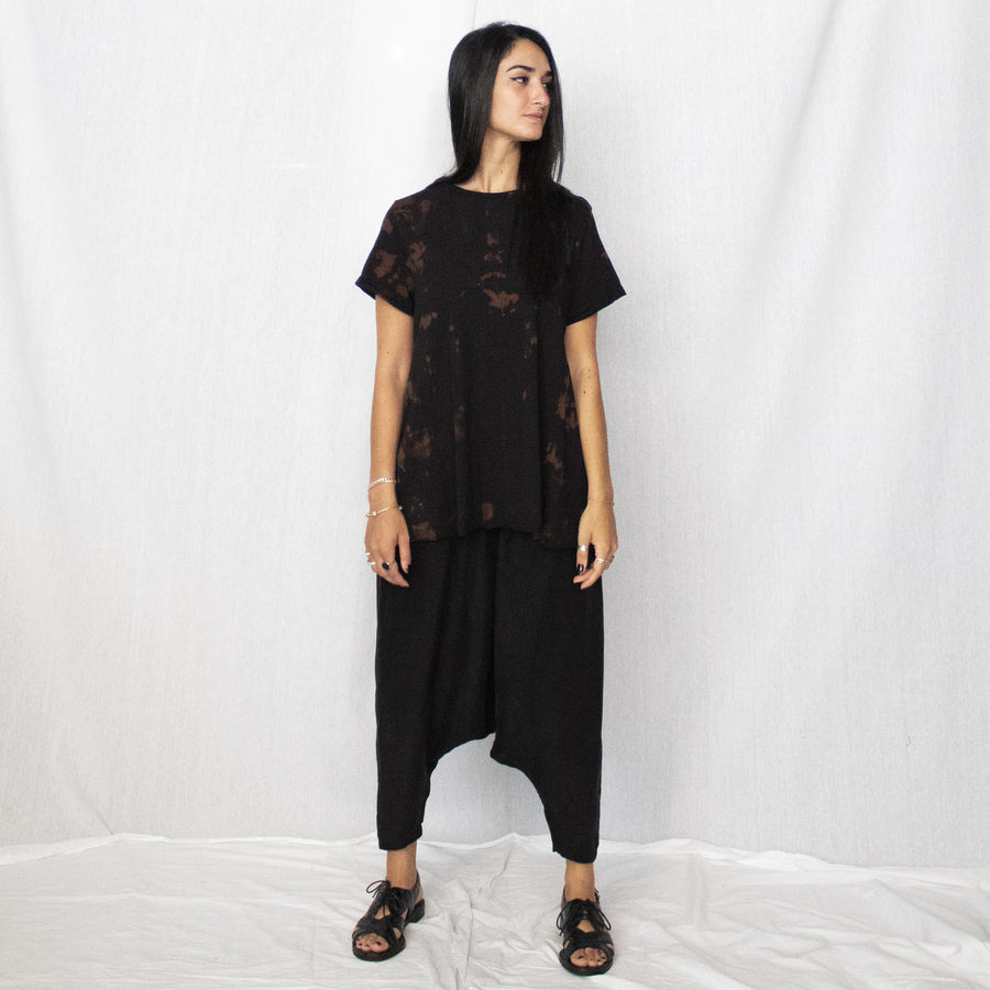Bell Top - black & brown