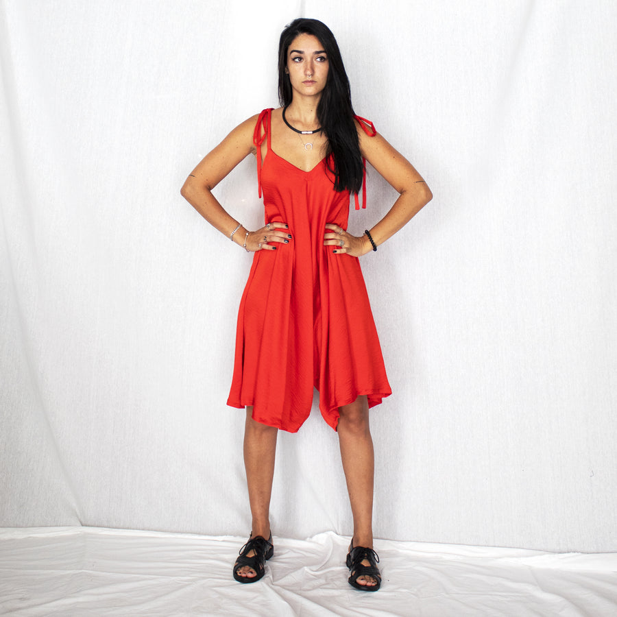 Comfy Jumpsuit - Red