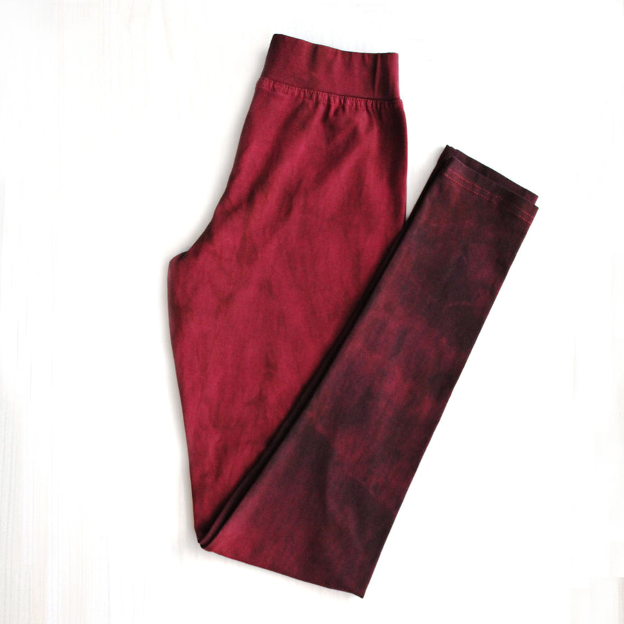 Yoga Leggings - Maroon Shades