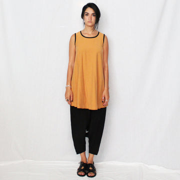 Rude Bell Dress - Ochre Yellow