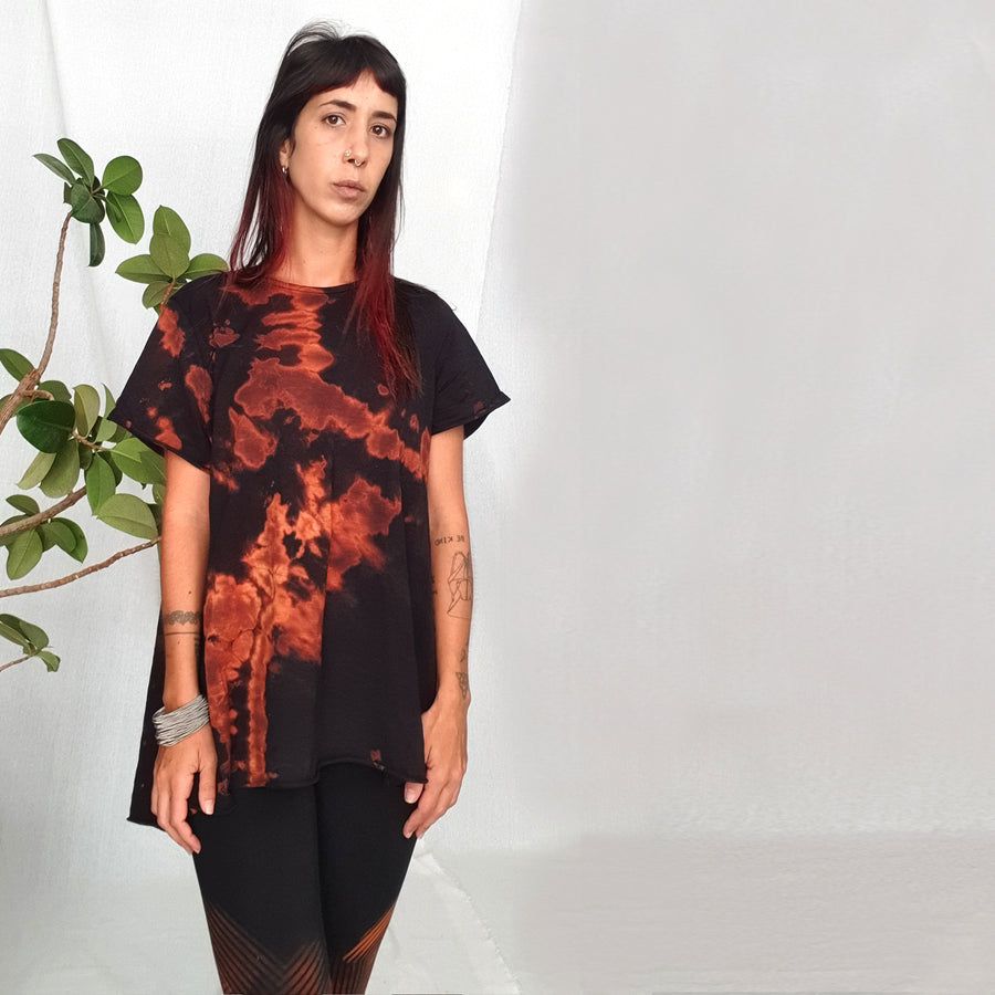 Bell Top - orange & black