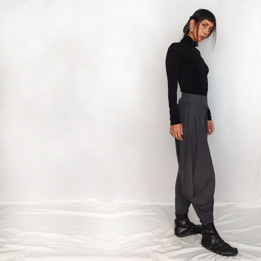 Loose Woman's Pants- dark grey
