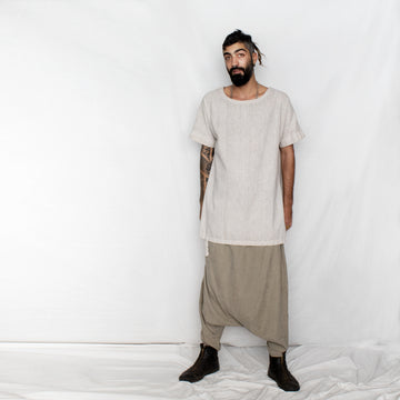 Men's Loose Harem Pants - khaki