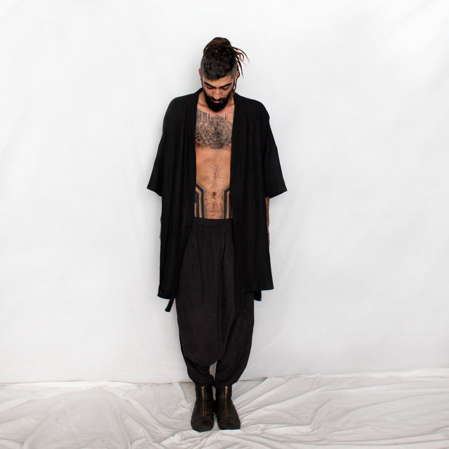 Men's Loose Harem Pants - black