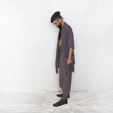 Men's Loose Harem Pants - grey