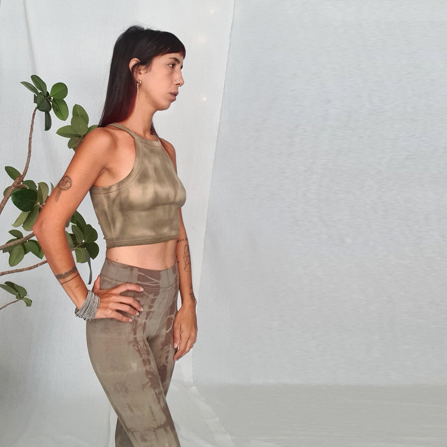 Crop Top - Olive Shades