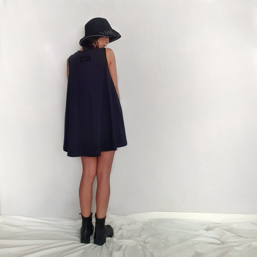 Rude Bell Dress - Navy Blue