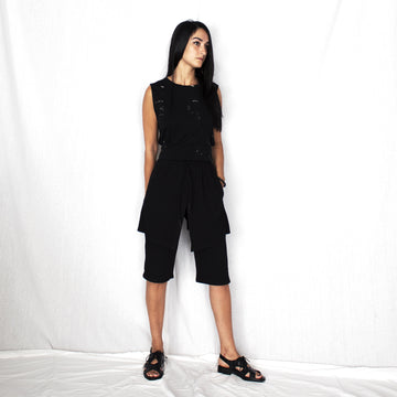 Short Unisex Layered Pants