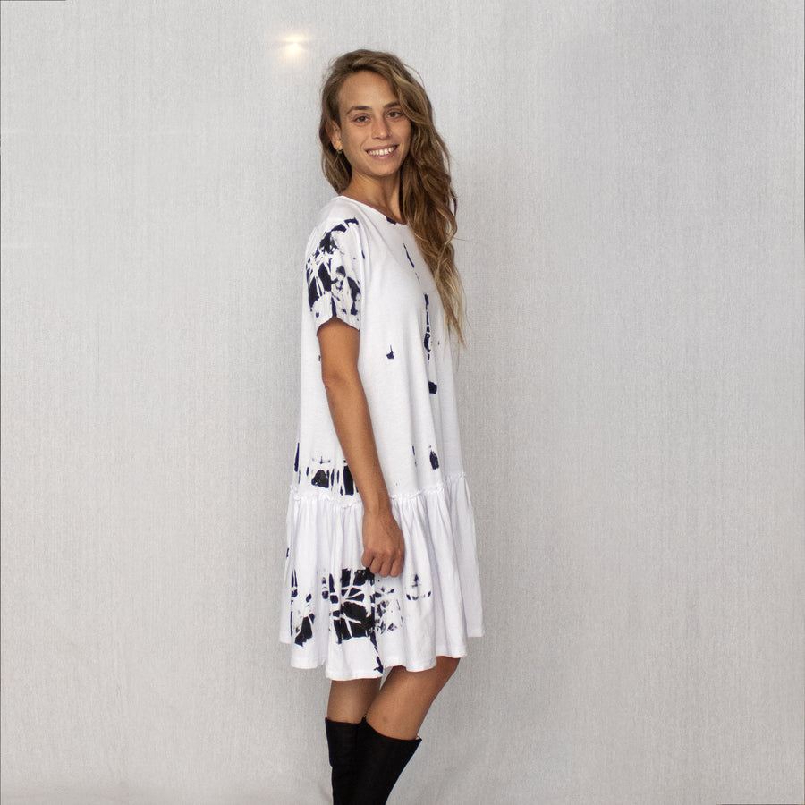 Lisa dress- White & Black