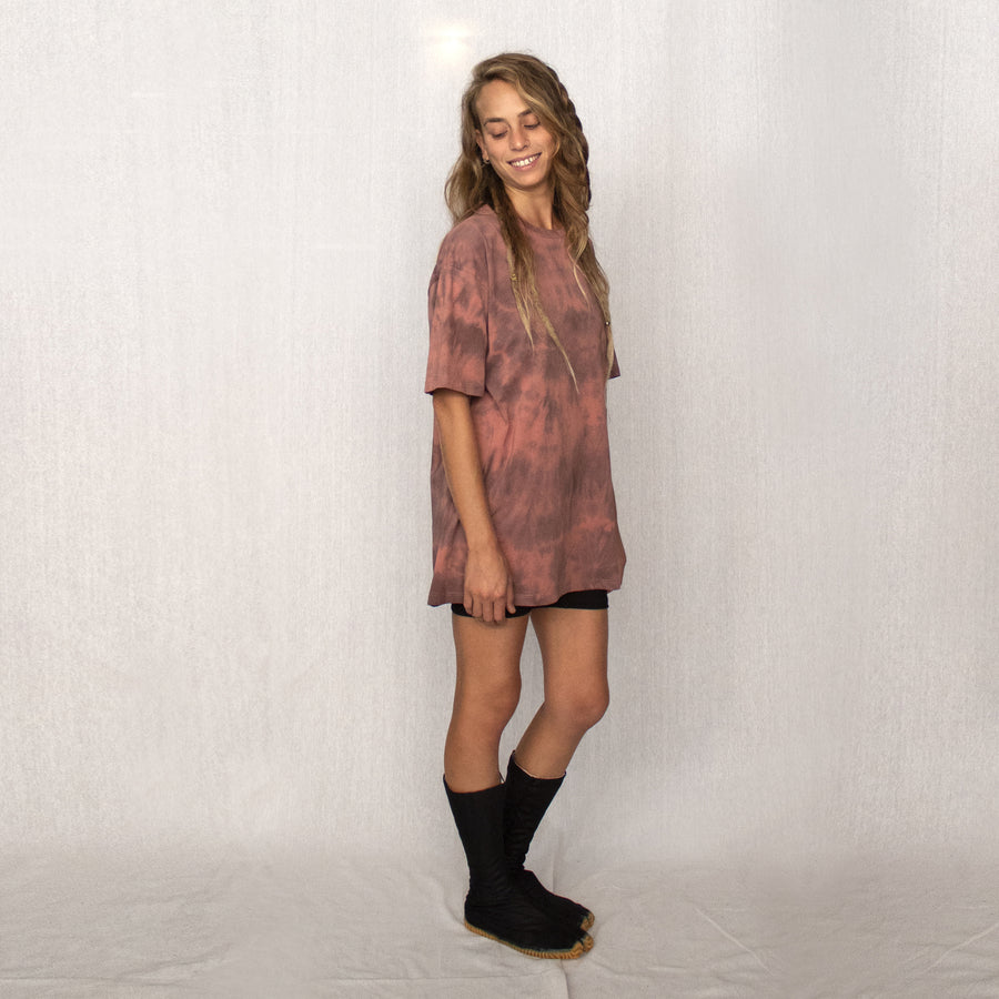 dyed T-shirt - Smokey pink