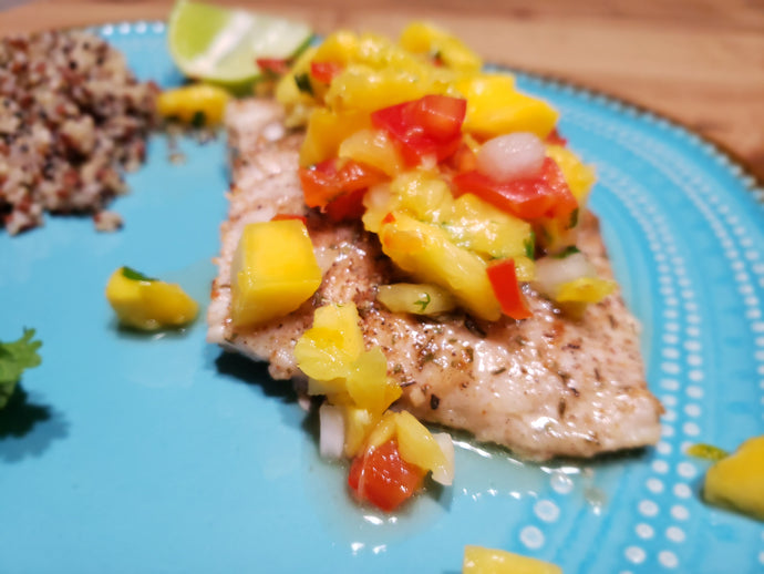 Jerk Grouper and Mango Salsa