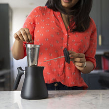 Load image into Gallery viewer, The Raven Stove-Top Kettle and Tea Steeper