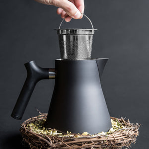 The Raven Stove-Top Kettle and Tea Steeper