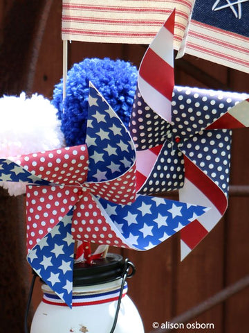 4th july paper pin wheels