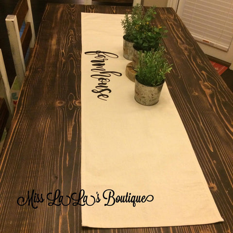 custom table runners and placemats