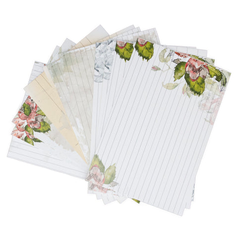 floral index cards