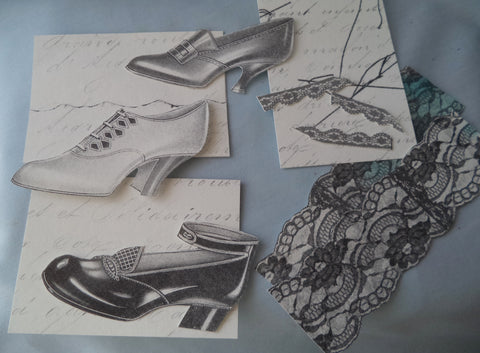 mixed media embellishments shoes