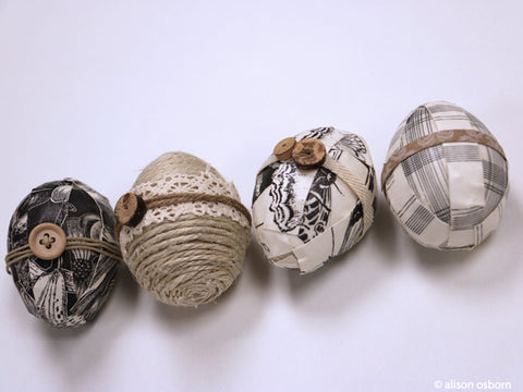paper decoupage easter egg ideas jute covered easter eggs easter craft ideas