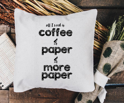 coffee craft pillow blank canvas