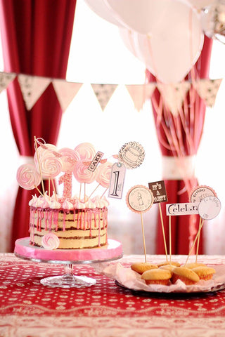 handmade baby girl party ideas