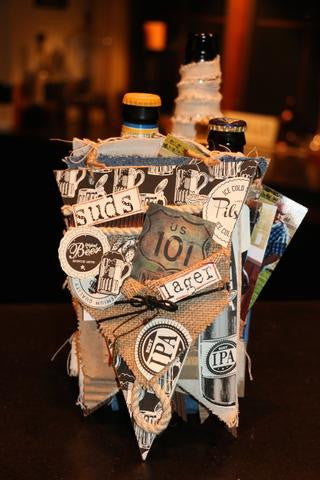 beer themed mixed media book
