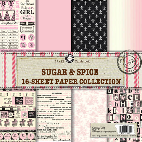 sugar and spice baby girl papers