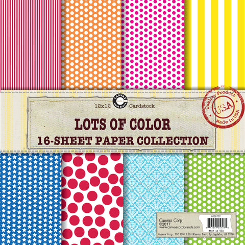 primary paper pack printed dots and stripes rainbow paper pack