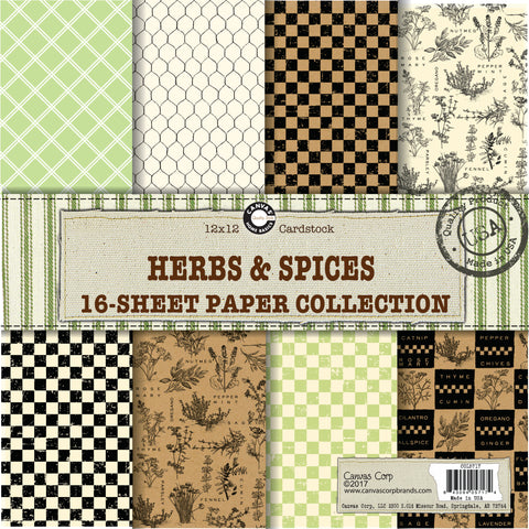 herb and garden craft papers
