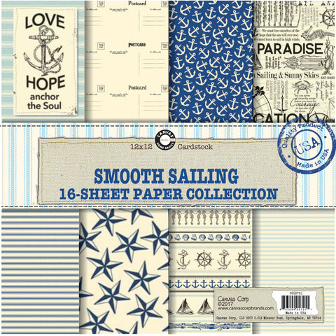smooth sailing nautical paper pack sailboat scrapbooking paper