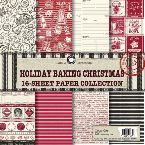 holiday baking paper pack canvas corp recipe cookies holiday christmas baking