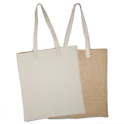 canvas and burlap tote