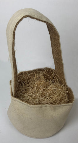 small canvas basket Easter Gift Hostess Embroidery Customer Easter Basket