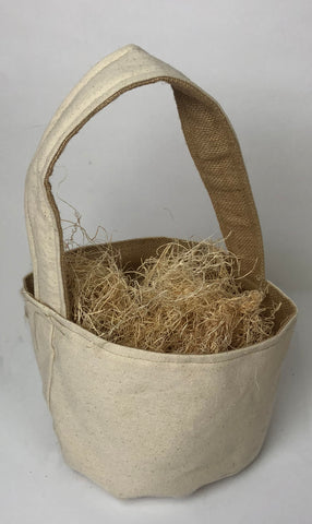 Canvas Basket with handle made in the USA screen print embroidery blanks wholesale bulk