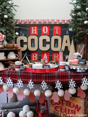 make your own cocoa bar