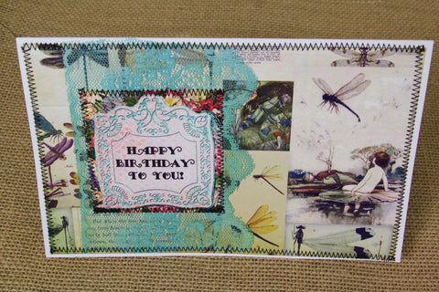 dragonfly card handmade