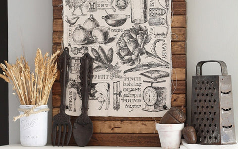 rustic kitchen fabric