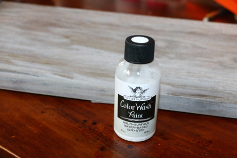 white wash metallic stain