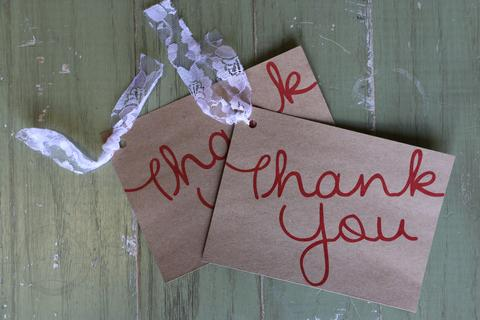 simple diy thank you cards