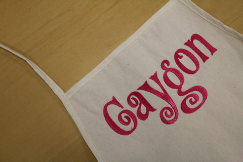 monogrammed aprons - made in the USA - custom aprons canvas