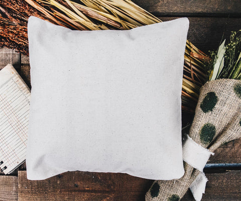 blank pillow cover
