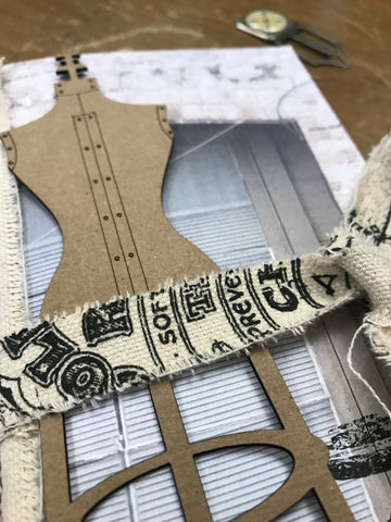 A vintage girl chipboard and paper junk journals