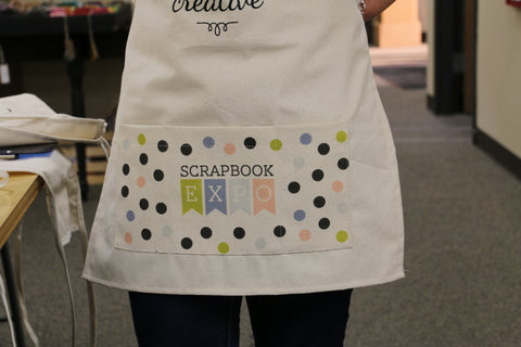 blank canvas apron with pocket