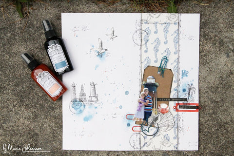 nautical mixed media